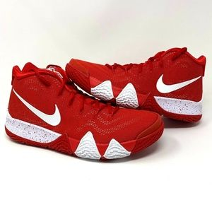 Nike Kyrie 4 Team Bank University Red White Sz. 13